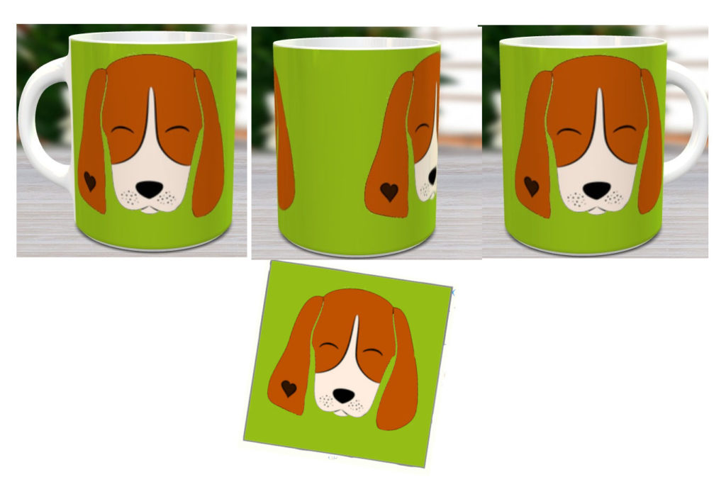 Mug and Glass Coaster Set