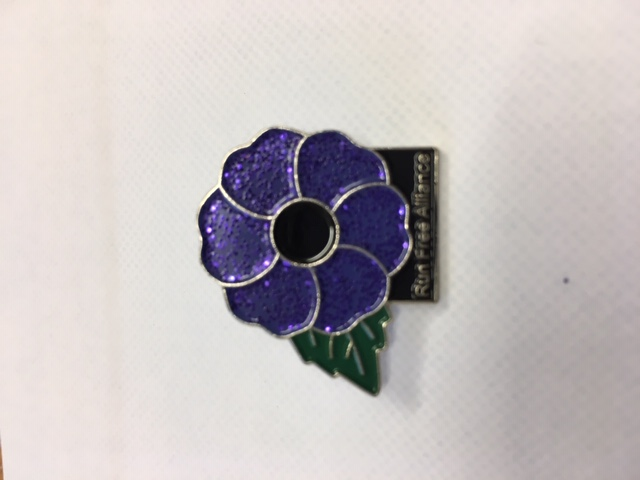 PURPLE POPPY PIN BADGE